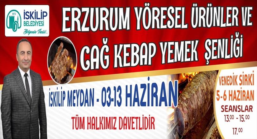 İskilip'te Erzurum Tanıtım Günleri Şenliği Yapılacak