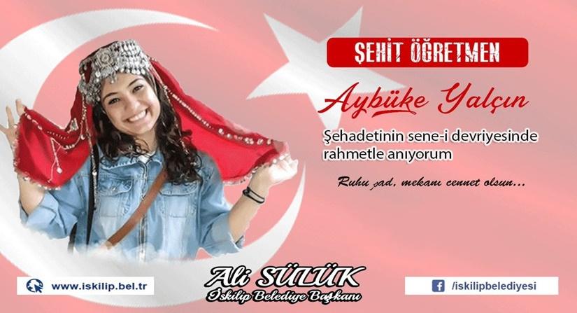 Başkan Ali Sülük Şehit Aybüke Öğretmeni Andı